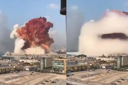 Ledakan Dahsyat di Beirut Pecahkan Kaca Yang Berjarak 10 KM Dari Lokasi
