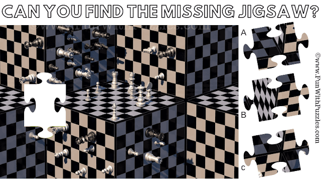 It is Jigsaw Puzzle for Teens in which one has to find the missing Jigsaw Piece taken from a Chessboard Puzzle Image