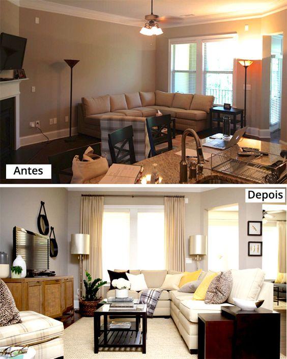 Mude os móveis de lugar