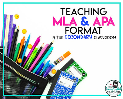 Teaching MLA and APA Format in the Secondary ELA Classroom