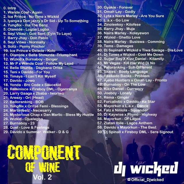[MIXTAPE] Dj Wicked - Component Of Wine Vol.2