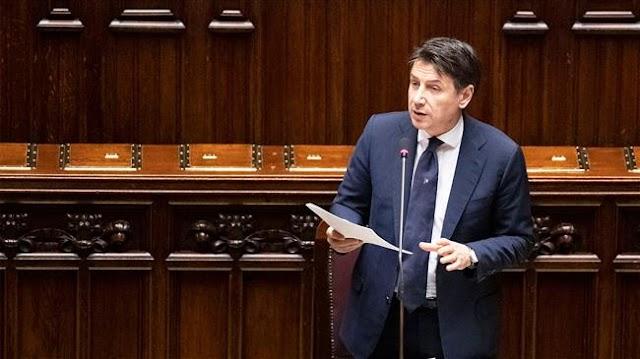 Italian Prime Minister Giuseppe Conte hails European Union's massive coronavirus recovery fund