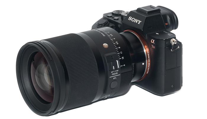 Объектив Sigma 35mm f/1.2 Art с камерой Sony A7R II
