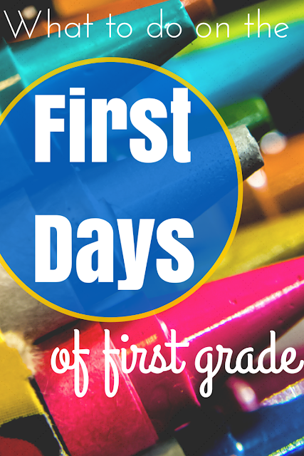 A guide to the first days of first grade: activities, books, establishing rules, and building community--lots of ideas and freebies!