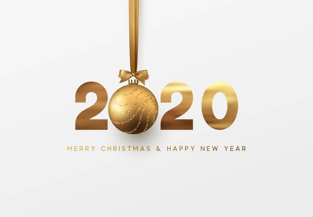 2020, Merry Christmas, Happy New Year, Bell