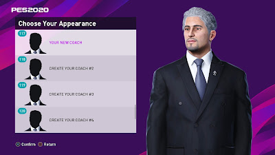 PES 2020 Create Your Coach Add-on by SoulBallz