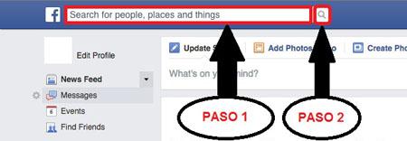 Buscar facebook por correo electrónico