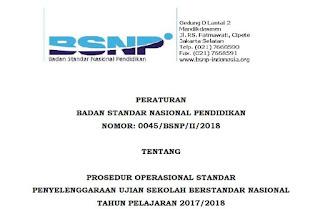 POS Penyelenggaraan USBN TP 2017/2018