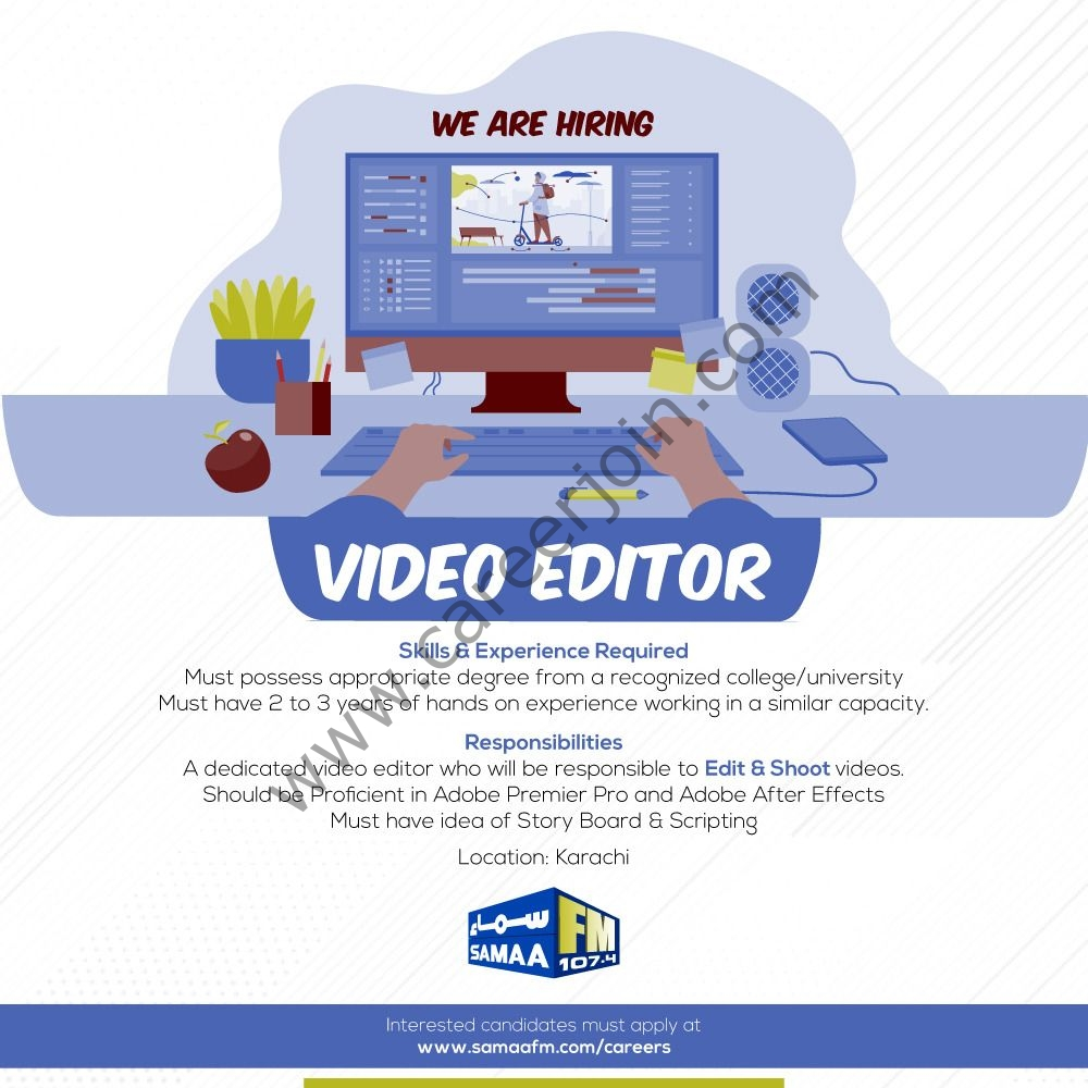 www.samaafm.com/careers Jobs 2021 - Samaa FM Jobs 2021 in Pakistan