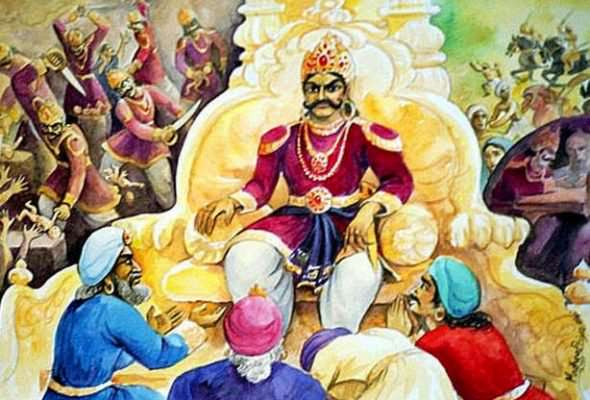 Kamsa in his Sabha