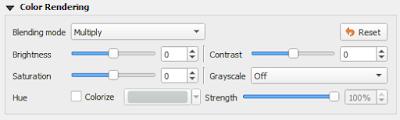 Color Rendering Option Hillshading