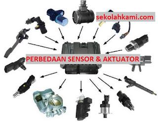 perbedaan sensor dan aktuator