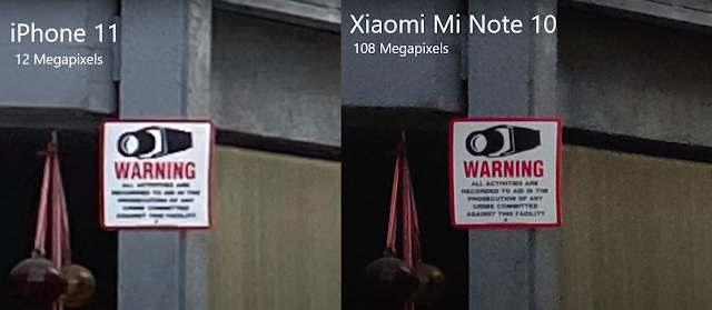 iPhone x vs Xiaomi Mi Note 10 Camera test
