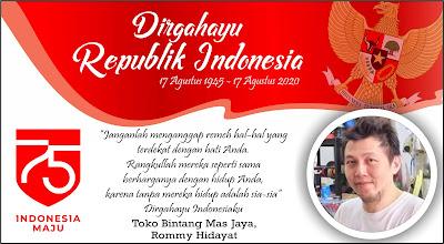 Direktur Bintang Mas Jaya Mengucapkan Dirgahayu RI ke-75