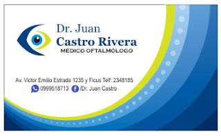 Tarjeta personal para oftalmólogo