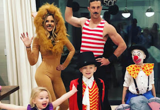 Alex Smith Playing Dress Up With His Family During Halloween