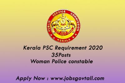 Kerala PSC Requirement 2020@jobsgovtall.com