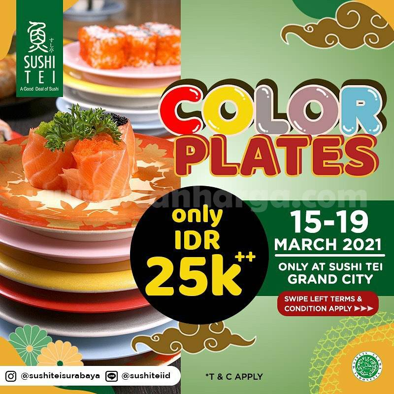 SUSHI TEI Promo 25K All Color Plate Terbaru Periode 15 - 19 Maret 2021