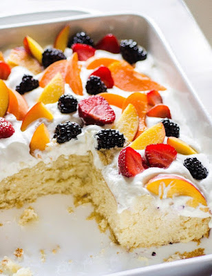 Summer Cake With Fruit and Cream