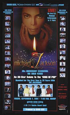 Il manifesto del Michael Jackson 30th Anniversary Celebration