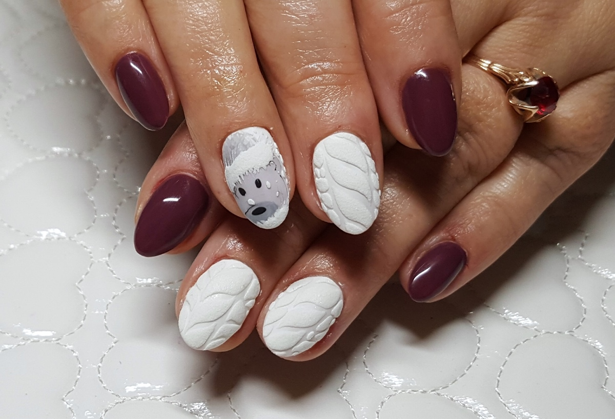 paznokcie na zime
