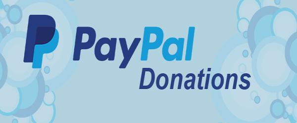 PAYPAL DONATIONS BANNER