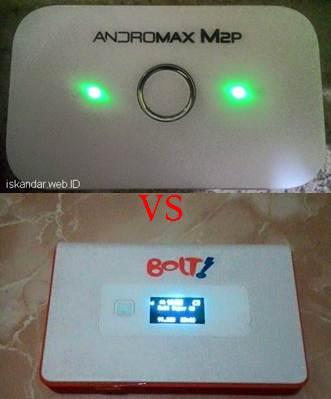 perbandingan Mifi smartfren dan bolt orion 4g