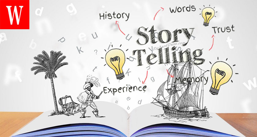 advertise with stories through storytelling