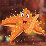 G4K Delightful Orange Starfish Escape