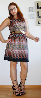 [Fashion] Indian Summer: Ethno Dress & Metallic Belt