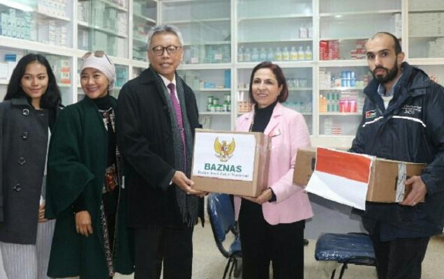 BAZNAS Salurkan Bantuan Obat-obatan ke Camp Pengungsi Palestina