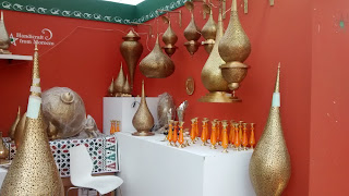 Brass handicrafts from Morocco at Surajkund Crafts Fair