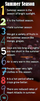 Short essay on summer season