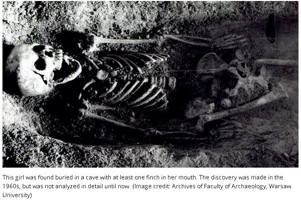 300 Year-Old-Girl Buried With A Finch in Her Mouth