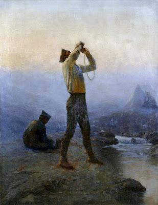 Προκοπίου Γεώργιος-Στρατιώτης πίνει νερό, 1921
