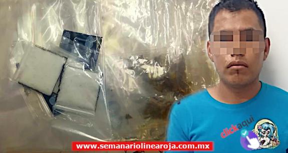 Capturan a sujeto con droga en la zona turística de Playa del Carmen