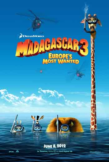Madagascar 3: Europe's Most Wanted 2012 480p 300MB BRRip Dual Audio