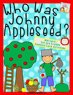 http://www.teacherspayteachers.com/Product/Who-Was-Johnny-Appleseed-Common-Core-Mini-Unit-856185