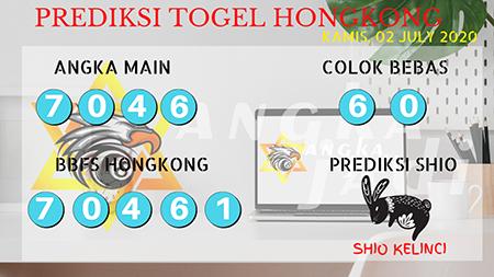 Prediksi Angka Jadi Togel Hongkong HK Kamis 02 Juli 2020