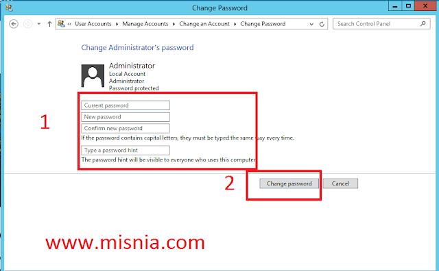 windows password change