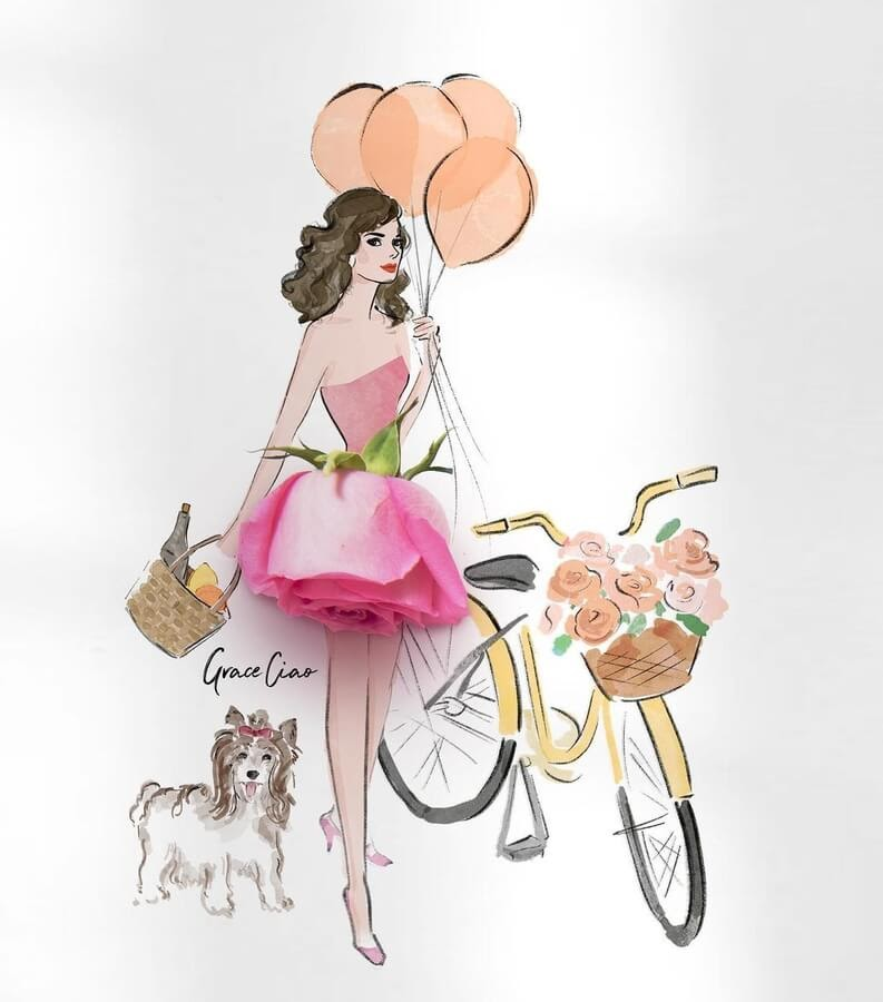 09-Balloons-a-dog-and-bicycle-Grace-Ciao-www-designstack-co