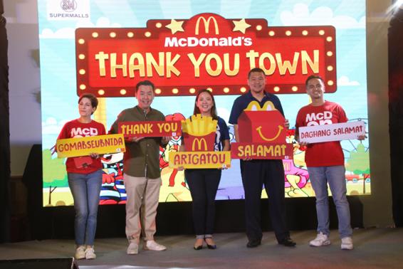 SM Supermalls and McDonald's celebrates #NationalThankYouWeek