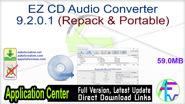 EZ CD Audio Converter 9.2.0.1 (Repack & Portable)