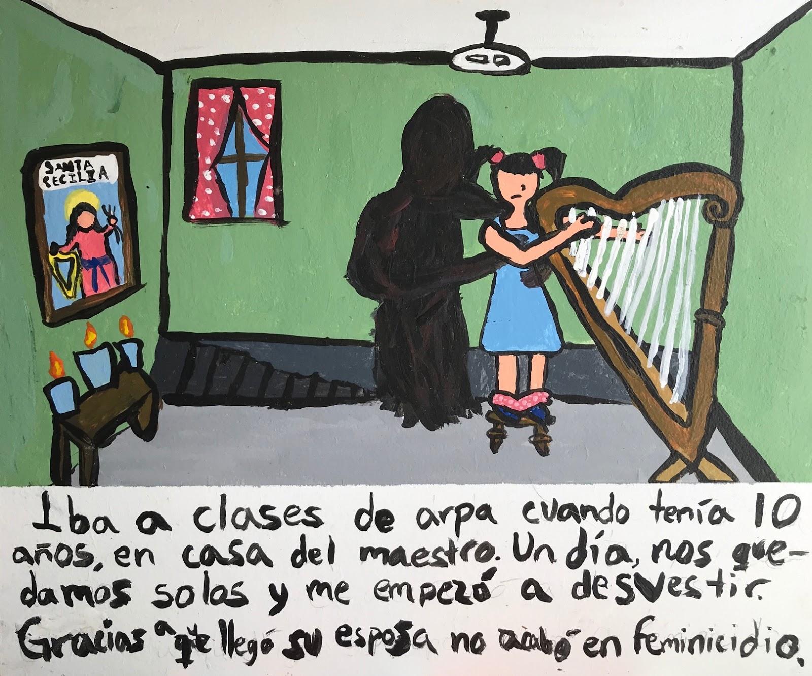 Iba a clases de arpa cuando tenía 10 años, en casa del maestro