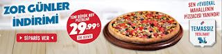 dominos pizza kampanyaları 2020 evde kal türkiye