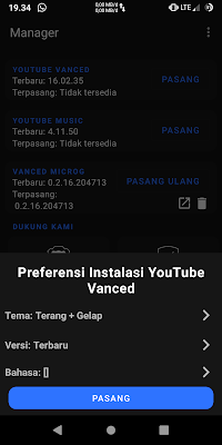 cara mudah install youtube vanced