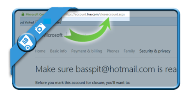 1 OPEN THE HOTMAIL REMOVAL LINK to delete a hotmail account and cancel hotmail account for permanetly .