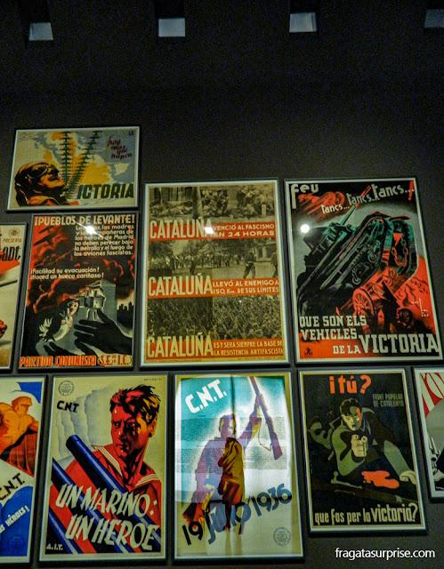 Cartazes republicanos da época da Guerra Civil Espanhola,  Museu Nacional de Arte da Catalunha, Barcelona