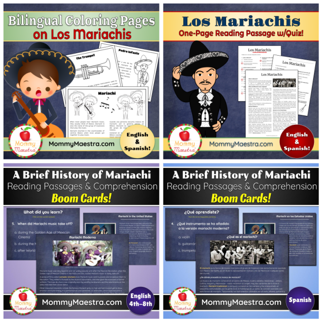Mariachi downloads for print or online learning